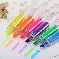 Wholesale 20pcs Cute Novelty Highlighter Colorful Pen Marker Pen Office School Supplies Kid Toy Gift Creative Papelaria