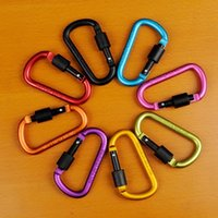 Wholesale 5pcs hot selling Carabiner Camp Snap Clip Hook Keychain Hiking mixed color