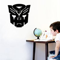 american appliance - Transformers quartz wall clock DIY creative children s room wall stickers home appliances Proof and waterproof European and American