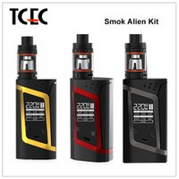 alien blue - 100 Original Smok Alien Kit with VW TC W Box Mod ml Top Filling Adjustable Airflow TFV8 Baby Tank fast delivery