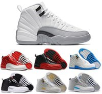 Wholesale 2016 air retro XII ovo white basketball Shoes wool GS Barons White Black Wolf Grey taxi Flu Game Playoffs Gym red Sneakers