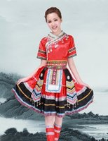 hmong - 2015 Dancing costume girl Women Hmong Miao Clothing Ancient Traditional Dance Chinese Dress Miao Hmong Plus Size Clothes set