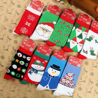 Wholesale Christmas Knit High Socks Women Men Santa Socks Snowman Snowflake Deer Design Cotton Socks Adult Big Children Gift Free DHL Shipping