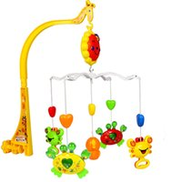 bedside cribs - Baby Crib Mobile Bed Hanging Rattle Bedside Music Bell Infant Educational Toys for Children Ring Baby Toys months