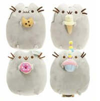 al por mayor regalo de cumpleaños de los animales-Pusheen gato juguetes de peluche Kawaii Cute Kids Pusheen gatos Peluche Brinquedos juguetes de animales de peluche regalos de cumpleaños
