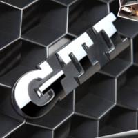 Wholesale GTI Volkswagen Grille Emblem Metal Colors Car Auto Grill Badge Emblem Sticker for VW Polo VW Golf Golf