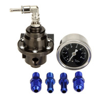 Wholesale AUTO High Performance Car Fuel Pressure Gauge Adjustable Fuel Pressure Regulator Titanium