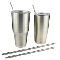 Wholesale Yeti cup Stainless Steel Straw Cleaning Brush Straws Set Packing for Kit Fits Yeti Tumbler Rambler Cups Metal Drinking Straw