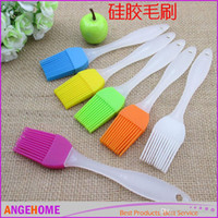 big barbecue grills - New Arrivals big size Heat Resistance Silicone BBQ Grill Brush Baking Pastry Bread Cooking Tools Silicone Plastic Handle