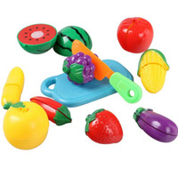 Wholesale 1 set Fun Kitchen Food Play Toy Cutting Vegetable Fruit for Children Gift A00064 OST