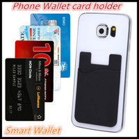 Wholesale Wallet Phone Case Wallet card holder Smart Wallet Of Silicone phone wallet Universal M Sticky Phone Wallet Credit Card Holder OEM In stock