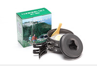 backpacking kitchen - EMS Outdoor Camping Hiking Kitchen Cookware Worldwide Backpacking Family Travel Mountaineering Cooking Picnic Bowl Pot Pan Set ZJ C01