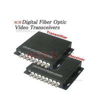 Wholesale 8CH Video Digital Optical Transmitter and Receiver Fiber Media converter nm