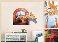 animal sound effects - The giraffe D living room sofa background wall stickers stickers creative decoration bedroom stereo animal sticker waterproof