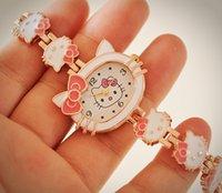 animal brand watches - 2016 New Hello Kitty Watches Fashion Ladies Quart Watch Vine Kids Cartoon Wristwatches Analog King Girl Brand Quartz women