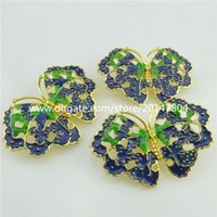Wholesale 18305 Cloisonne Enamel Blue Green Insect Butterfly Fit Ring Bracelet Hair Rope