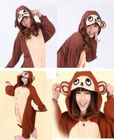 baboon costume - 2016 Finnal Adult Cute Anime Onesies Hooded Baboon Monkey Pyjamas Cosplay Pajamas Halloween Animal Costume Animal Sleepwear