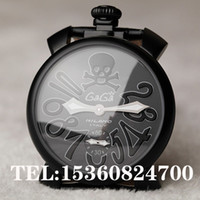 Wholesale Chain Watches For Men - Gaga Watch cool skull big dial watch mechanical manual chain strap gaga milano watch 48mm for men