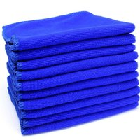 Wholesale Car Wash Absorbent Towel Car Cleaning Cloths Dry Hair Towel Blue Plush Microfiber Polish Car Care Tool CM