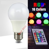 bedrooms colors - 3W W W W E27 Led RGB Bulbs Light Colors Change For Xmas Party Lighting AC V IR Remote Control