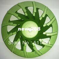 Wholesale 7 Diamond grind CUP Wheel Plate mm Concrete grinding disc for angle grinder grit Tornado disc chip removal FAST