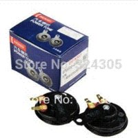 basin units - 1 pair The DENSO unit car horn basin basin type horn positive negative pole double plug connector make in japan