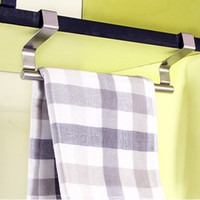 Wholesale multi purpose stainless steel single towel bar door back rag rack small cm cm towel bar home supplies