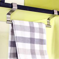 Wholesale multi purpose stainless steel single towel bar door back rag rack small cm cm towel bar home supplies