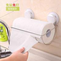 Wholesale Sucker Paper Towel Rack Bathroom Roll Tissue Holder Paper Holder Tissue Holder Kitchen Roll Paper Rack