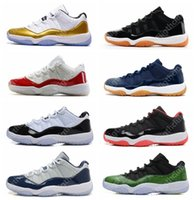 Wholesale Retro Low Olympic Metallic Gold White Varsity Red Cherry Navy Gum Concord Basketball Shoes Sneakers Women Men s Lows XI Sports Shoes
