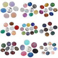 aluminum jump ring - 2016 New Summer Style Button Set Aluminum bottom multislice printing Noosa Netherlands dark button18mm DIY Personality Buttons