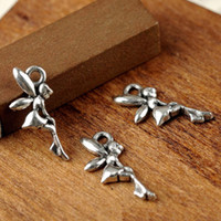 Wholesale hot sale Tibetan Silver Angel Fairy Charms Pendant Fit Bracelet necklace Jewelry Findings Components