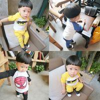 batman kids t shirts - Boys Kids Clothing Clothes CCartoon Spiderman Batman Autumn Long Sleeve T shirt Trousers Sets Kids Outfits Fashion Children Clothing