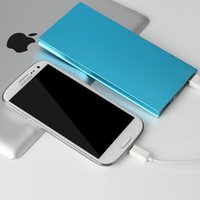 Wholesale New Ultrathin Portable External Battery Charger Power Bank mAh for Cell Phone Blue Pink Gold Silver Black for iphone for Samsung phone