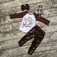 american football brands - girls football outfit clothing sets girls It s football Y all clothes girls brown sequin pant sets with necklace and bows