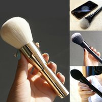 aluminum cosmetic - Big Size Powder Brush Blush Foundation Make Up Tool Large Cosmetics Aluminum Makeup Brushes