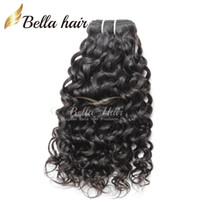 al por mayor longitud 18 extensiones de cabello-El pelo ondulado natural de la longitud de la mezcla 8 ~ 30inch de las extensiones de pelo del color natural 3pcs / Lot del pelo humano teje 300g / lot