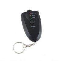 Wholesale NEW Portable Keychain LED Alcohol Breath Tester Breathalyzer