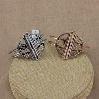 Wholesale Cutout Semi Circle Design Antique Punk Snap Bracelet Colors Spring Function OEM ODM