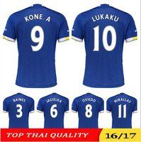 Wholesale 2016 Everton jersey Home blue Everton Maillot de foot LENNON LUKAKU MIRALLAS LENNON BARKLEY KONE A MCCARTHY shirt jerseys
