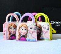 Wholesale The new children s fashion bag cute girls princess bag Messenger bag Frozen purse large spot Fashion mini bags kids kids handbags