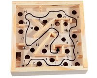 balance board wood - Wooden Puzzle Toy Maze Board Kids Solitaire Game Children Education Learning Intelligence Game Classic Labyrinth Balance Board