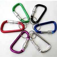 Wholesale Outdoor essential Aluminum Alloy hang lock key ring type D carabiner high strength deformation g