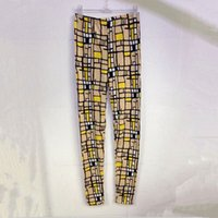 abstract leggings - abstract Plaid Leggings Slim Pants girls Stretchy Skinny cotton knitted mid Waist fashion pants