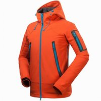 Wholesale 2016 Windstopper Outdoor Brand GTX Active Shell Thermal Hiking Jackets For Men Mountain Camping Ski Waterproof Hi Q Jacket Fashion Down Coat