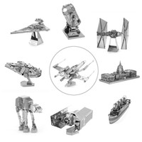 Wholesale D Metal Puzzles Model Jigsaws Fighter Robot DIY Assemble Kid Adult Toy