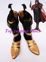 Wholesale Freeshipping custom made anime Final Fantasy VII nt Valentine Cosplay Show Boots shoes for Halloween Christmas festival