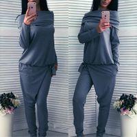 Wholesale Autumn dress long sleeved sweater two piece suit sports set female sportswear casual sportswear suit