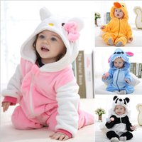 Wholesale 2016 Infants and young children spring clothes new panda animal modeling Romper jumpsuit climbing clothes suit age years baby