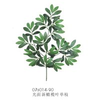 artificial olive branch - Artificial Single branches smooth new olive leaves